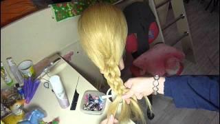 Коса из 5 прядей - классическое плетение/5-strand braid
