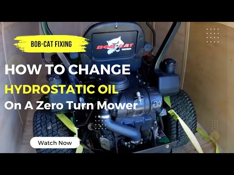 how-to-change-hydrostatic-fluid-on-a-zero-turn-tractor