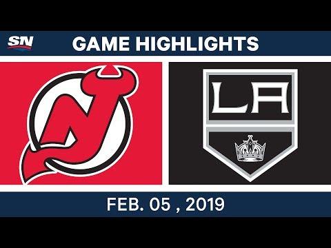 NHL Highlights | Kings vs. Devils - Feb. 5, 2019