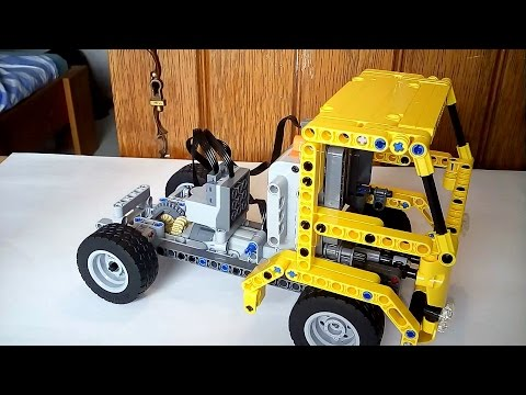896gerards tutorials 02   Building a simple Lego Technic Truck with the earlier built car chassis