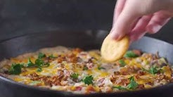 Cheesy Black Eyed Pea Dip with Bacon
