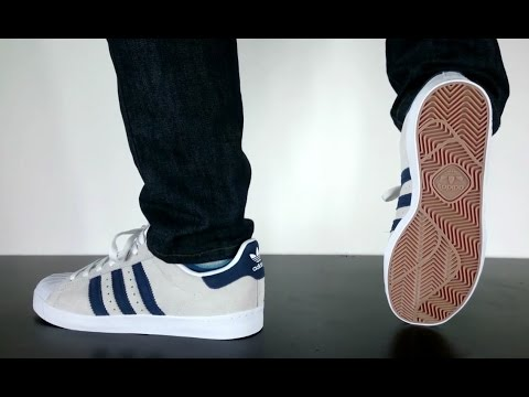 half off a2b29 f47c2 ADIDAS SKATEBOARDING SUPERSTAR VULC ADV crystal white collegiate navy ft  White