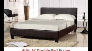 Faux Leather Bed Prado Chocolate Brown Free Delivery