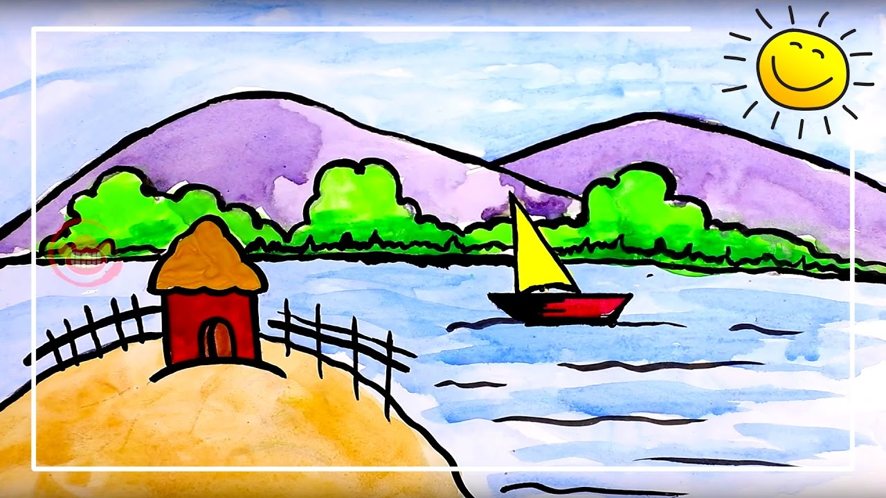 coloring for kids beautiful scenery painting for kids silly kids
