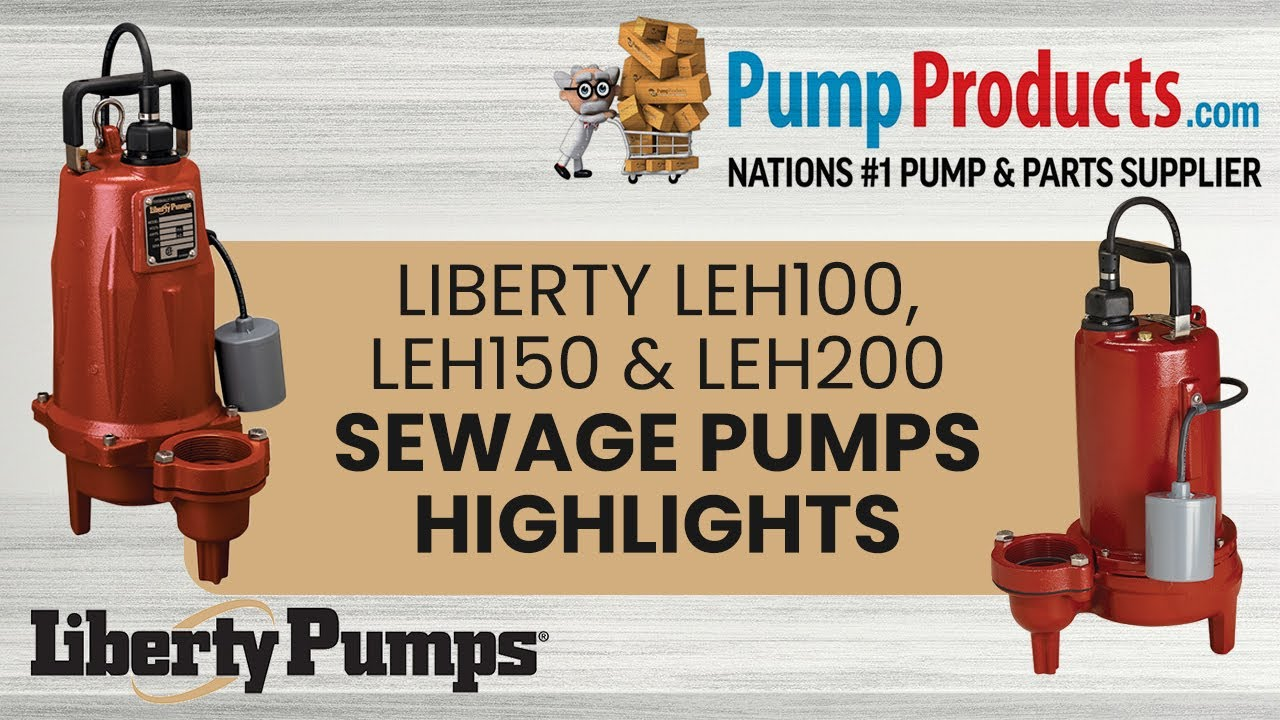 Liberty LEH154M2-2, LEH150 Series, Manual Submersible Sewage Pump, 1-1/2  HP, 440-480 Volts, 3 Phase, 2