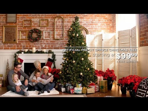 Best Choice Products' Pre-Lit Artificial Spruce Christmas Tree