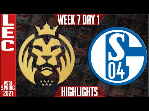 MAD vs S04 Highlights | LEC Spring 2021 W7D1 | MAD Lions vs Schalke 04