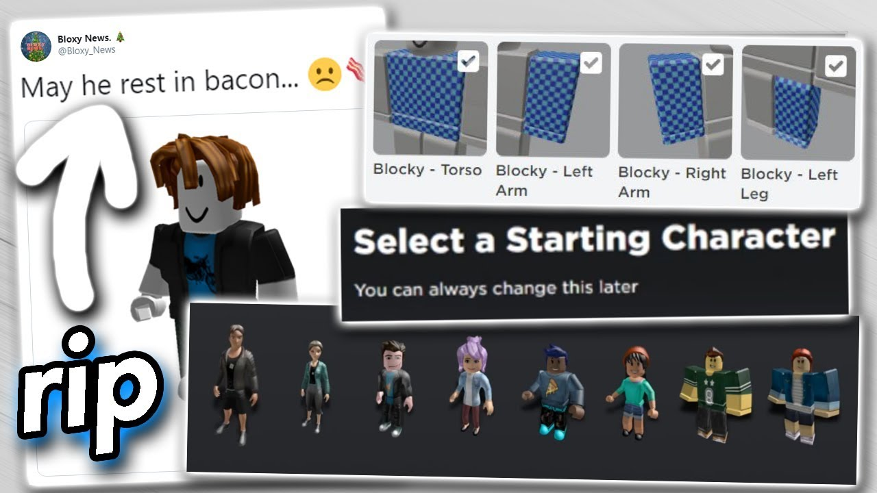 Roblox Removed Another Feature Goodbye Bacon Hairs - youtube roblox guests removed