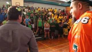 Miami Dolphin Paul Soliai New Zealand Tour 2012 Episode 3 Visit to Wesley College
