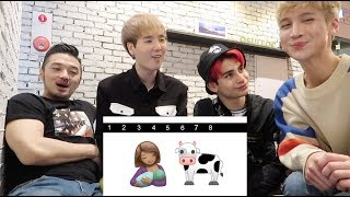 Guess Kpop Groups by Emoji Ft. Edward Avila, Under Nineteen Eddie, and Trophy Cat