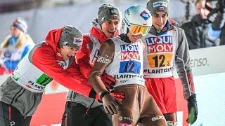 Wspaniały wieczór w Lahti. Zobacz wszystkie skoki złotej drużyny!