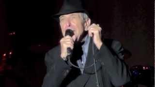 Leonard Cohen, Anyhow, Dublin 15-09-2012
