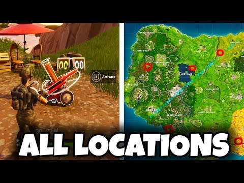 All Clay Pigeons [Locations!Shown In MAP] - Shoot Clay Pigeons Challenge - Fortnite Gameplay L 14ALL