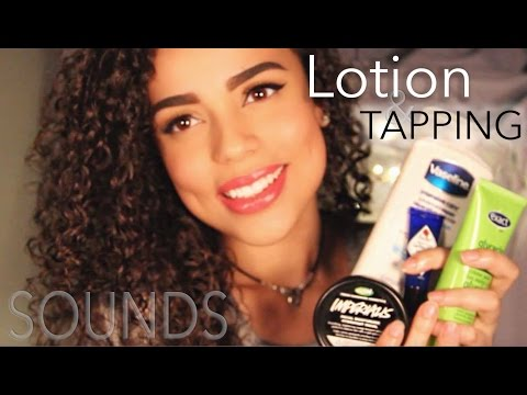 Relaxing ASMR Lotion and Tapping SOUNDS {{ Whispered }}