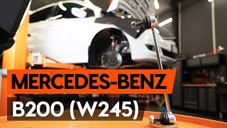 Hvordan bytte Dynamo MERCEDES-BENZ B-CLASS (W245) - online gratis video