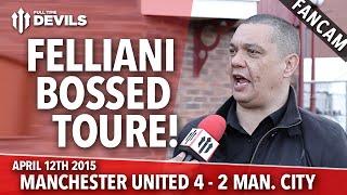Fellaini Bossed Toure! | Manchester United 4 Manchester City 2 | FANCAM