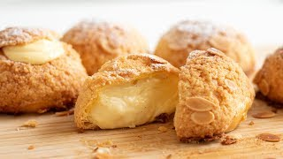 クッキーシュー:シュークリームの作り方 Choux au Craquelin:Cream Puffs|HidaMari Cooking