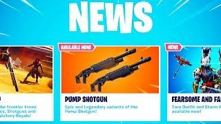 New LEGENDARY PUMP Shotgun in Fortnite..