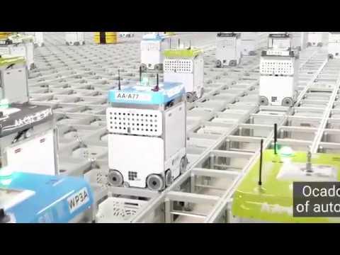 видео: На новом автоматизированном складе товаров тысячи роботов собирают заказы