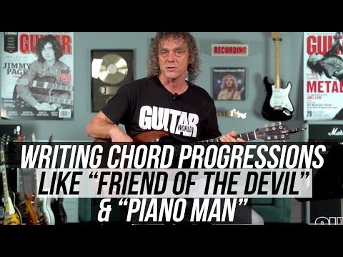 """Songwriting Tips – Pairing Chords with Walking-Down Bass lines like """"Piano Man"""""""
