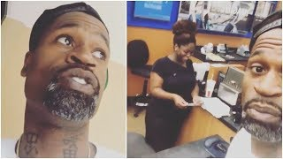 Stephen Jackson finds a guy's credit card & this is what he decides to do