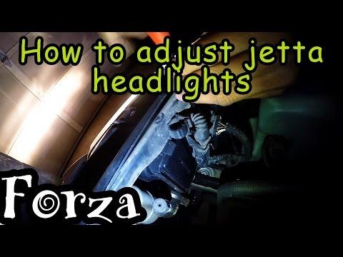 How To Adjust Jetta Head lights - 0-60 pull!!!!!