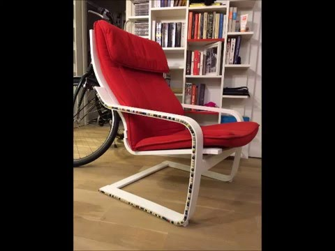BEFORE AND AFTER: Ikeau0027s Poang Chair Upcycled And Turned Into A Real Beauty    YouTube