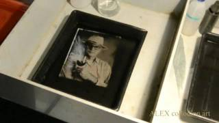 Collodion wet plate ambrotype process