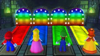Mario Party 10 - Minigames - Mario vs Luigi vs Peach vs Daisy (Master CPU)