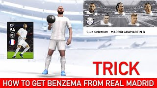 HOW TO GET 98 RATED BENZEMA FROM REAL MADRID CLUB SELECTION | PES 2020 MOBILE