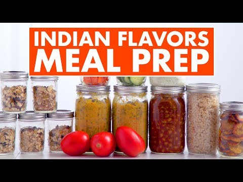 Indian Flavors Vegetarian Meal Prep! Indian Breakfast Lunch Dinner and Snacks - Mind Over Munch