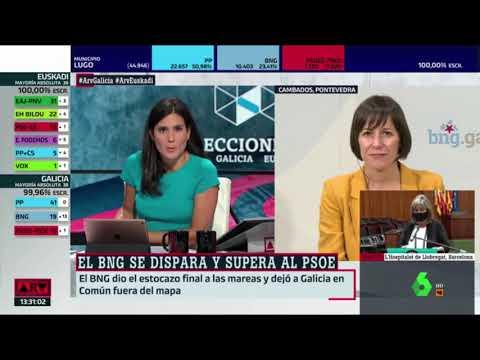 """Ana Pontón: """"O resultado do BNG é a expresión dunha Galiza inconformista que pelexa polo seu futuro"""""""