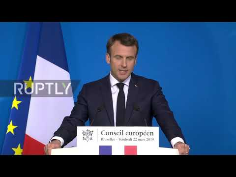 Belgium: Article 50 extension must avoid EU remaining 'hostage' to Brexit - Macron