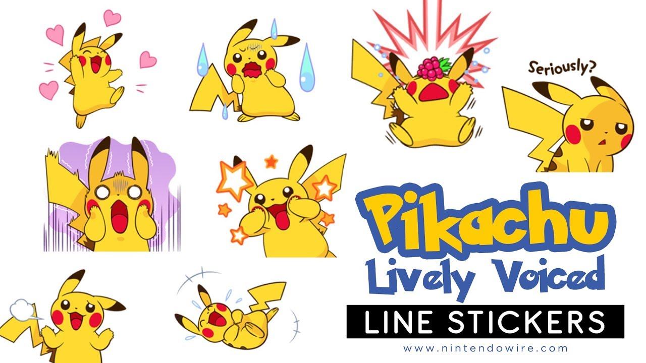Pikachu's Lively Voiced Stickers | Line Sticker Showcase