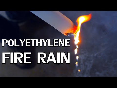 How To Make Fire Rain | Non-Toxic Combustion Properties of Polyethylene - NightHawkInLight