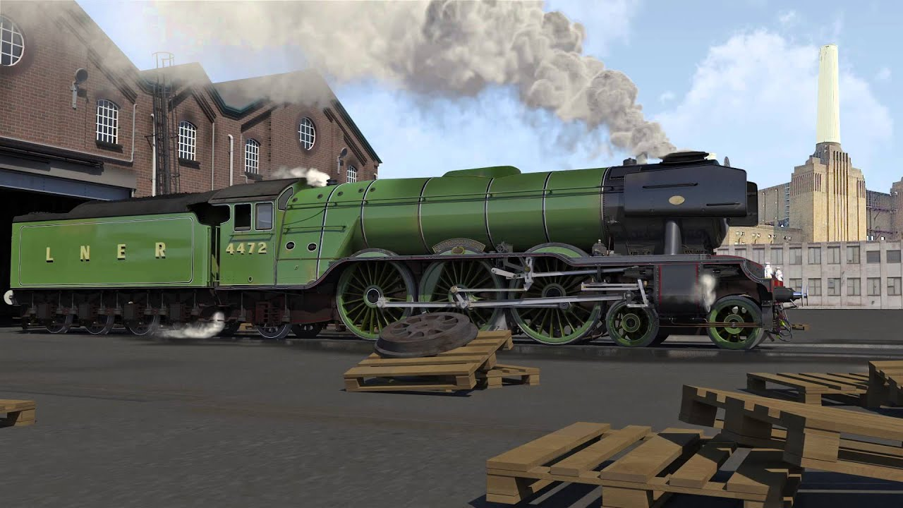 Download Engine 3d Live Wallpaper Flying Scotsman Steam Engine 3d Animation Youtube