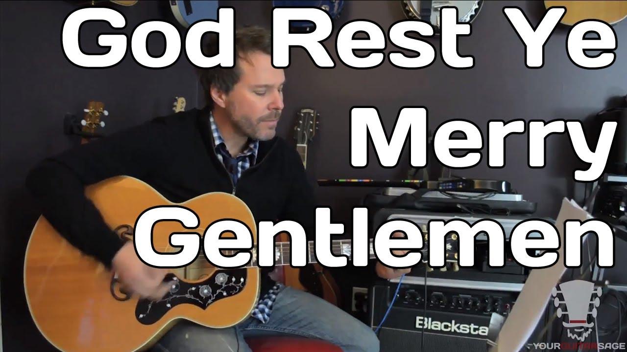 God Rest Ye Merry Gentlemen - Christmas Song - Guitar Lesson - YouTube