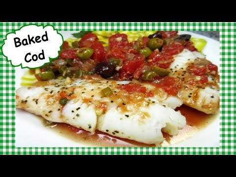 Baked Cod with Tomato Sauce How to Make Easy Healthy Baked Cod Fish