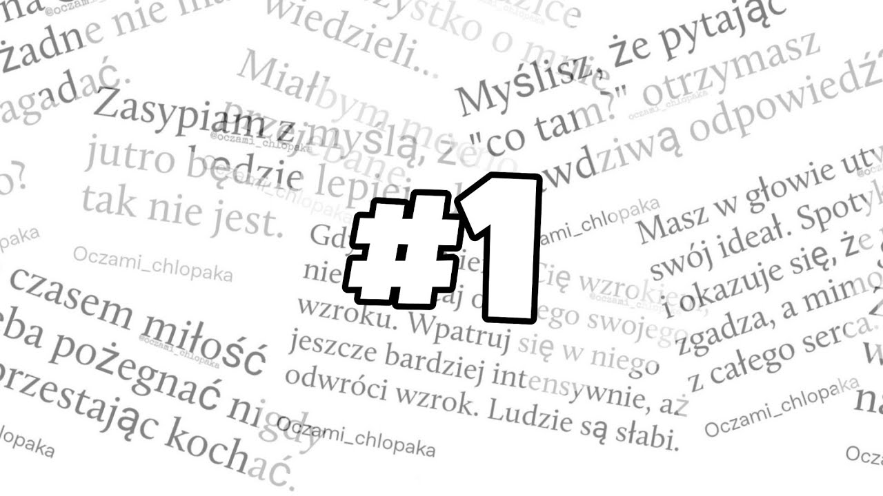 Cytaty 2 Oczami Chlopaka Youtube