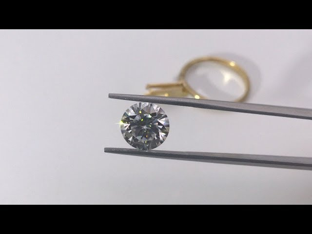 2ct 8mm Round Diamond Brilliant Cut Moissanite Diamond stone Forever EF White Color Gemstones China