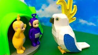 Teletubisie i duża Papuga ♦ Co to za olbrzym ♦ Bajka dla dzieic PO POLSKU
