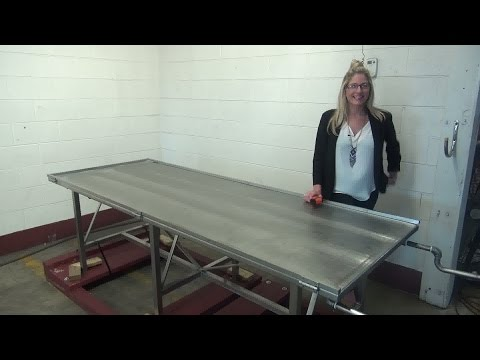 Savage Brothers Stainless Steel Jacketed Candy Cooling Table Demonstration