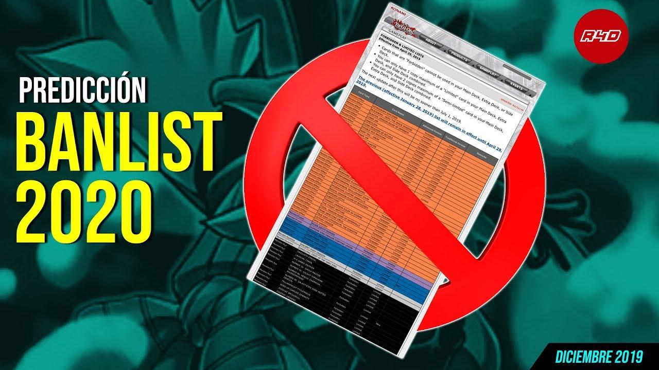 Yugioh Ban List 2020.Predicciones Banlist 2020