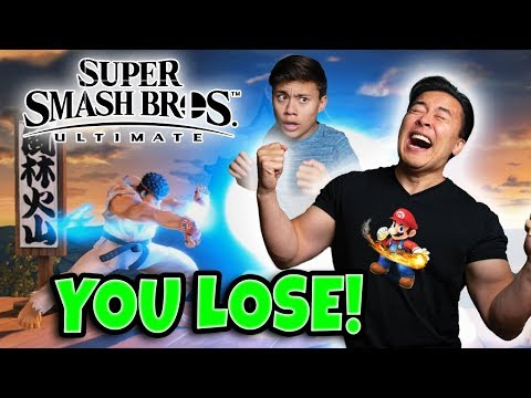 DESTROYING MY DAD AT SUPER SMASH BROS. ULTIMATE!!! Father VS. Son! thumbnail