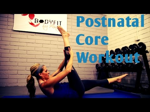 12 Minute Post Natal Core Workout—Abs Workout for After Pregnancy or C Section