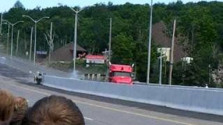 testing of a truck runaway ramp in North Bay, ON.