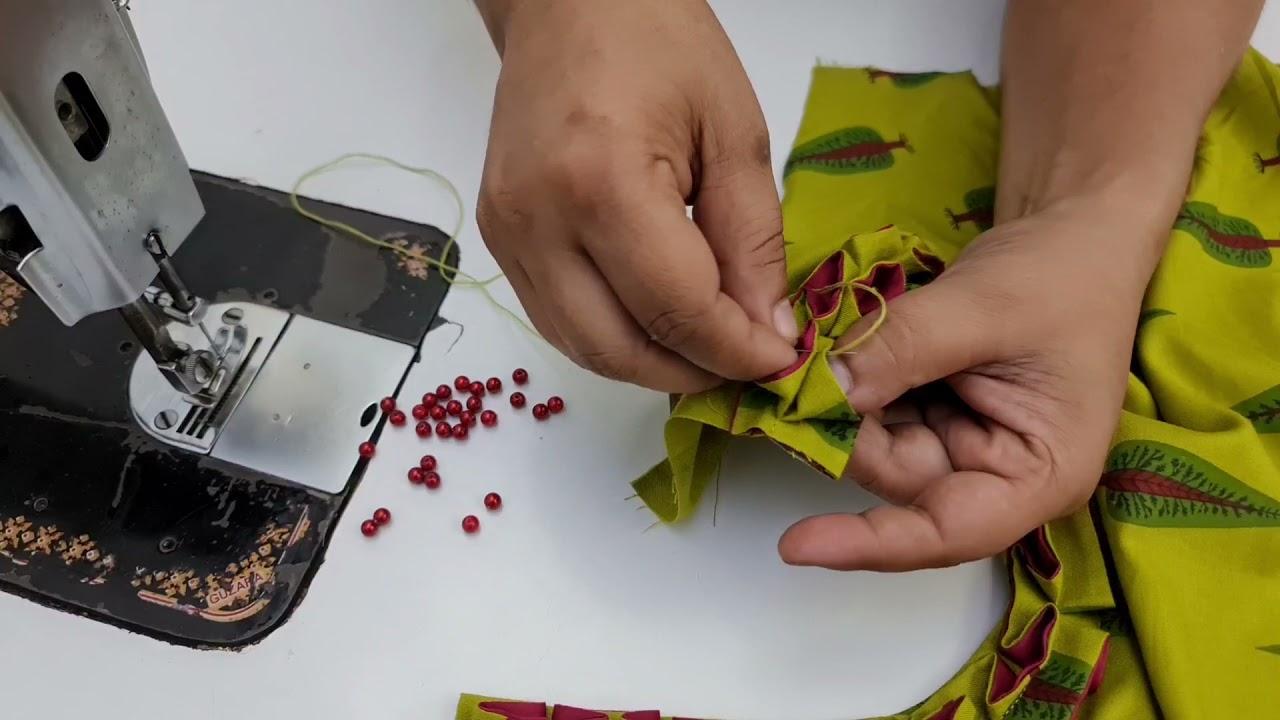 Download Double Frill वाला बहोत ही अलग और सुंदर नैक डिज़ाइन/Kurti neck design cutting and stitching