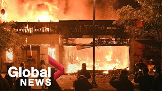 George Floyd death: Minneapolis in flames as protests continue overnight