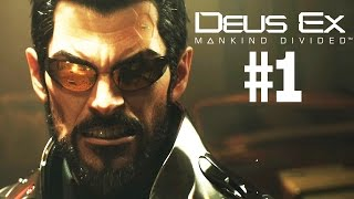 Deus Ex Mankind Divided Preview First Impressions Gameplay Walkthrough Part 1  Lets Play Please be aware this is preview build and not the final build