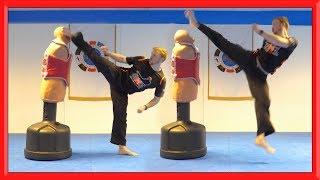 Taekwondo Kicking Sampler | Relaxed Training & Bottle Challenges